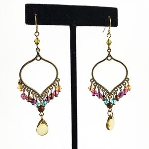 BOHEMIAN Multicolored Crystal Dangle Earrings